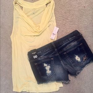 NEW🎉 tank and shorts XS/00
